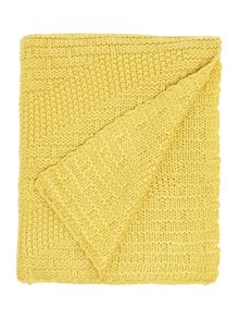 Linea Yellow knit throw