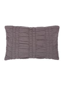 Charcoal ruched cushion