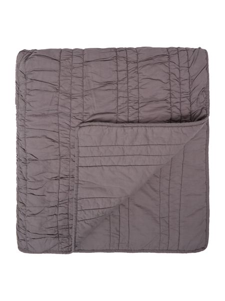 Linea Charcoal ruched bedspread