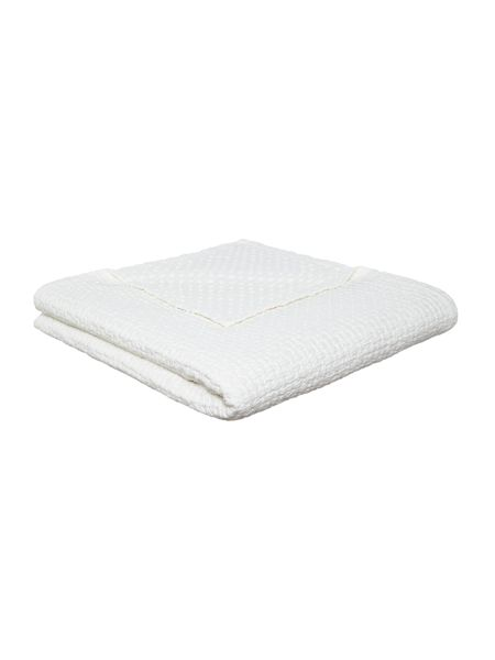 Linea White textured bedspread
