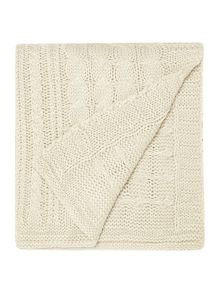 Linea Highland blanket, cream