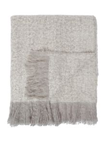 Linea Grey knit blanket