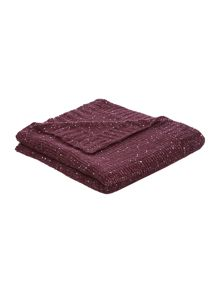 Sparkle knit throw, purple