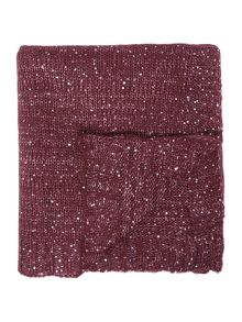 Linea Sparkle knit throw, purple