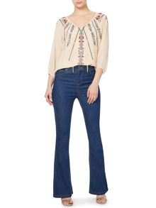 Tori high waisted kick flare jean