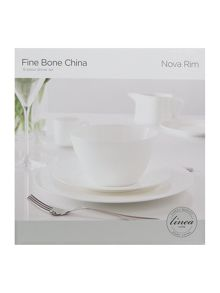Linea Nova 12 piece rim fine bone china box set