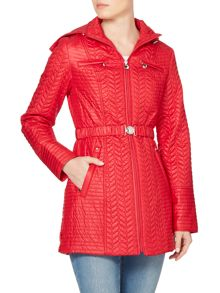 Dawn Levy Zig Zag Quilted Jacket