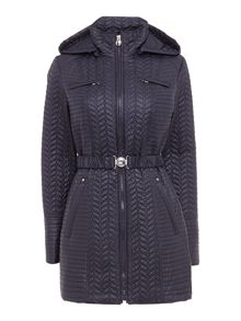 Zig Zag Quilted Jacket