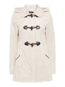 Detachable hooded jacket  with toggles