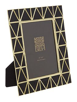 Art Deco frame black & gold 4x6