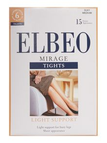 Elbeo Mirage light support 15 denier sheer tights