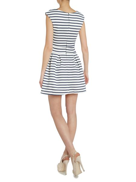 Wal-G Sleeveless Striped Fit and Flare Dress