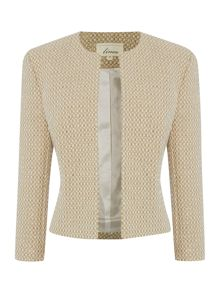 Linea Phoebe luxe check detail jacket