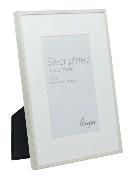 Linea Fine Metal Silver Plated 4x6