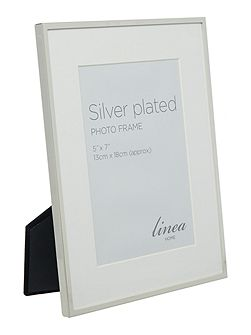Fine metal silver plated frame 5x7