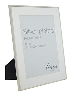 Fine Metal Silver Plated frame 8x10