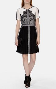 Karen Millen Graphic placed lace dress