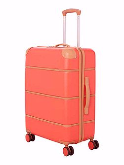 Trunk red 4 wheel large suitcase