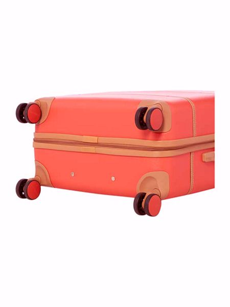 Dickins & Jones Vintage trunk red 8 wheel large suitcase