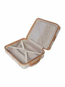 Dickins & Jones Vintage trunk cream 8 wheel cabin suitcase