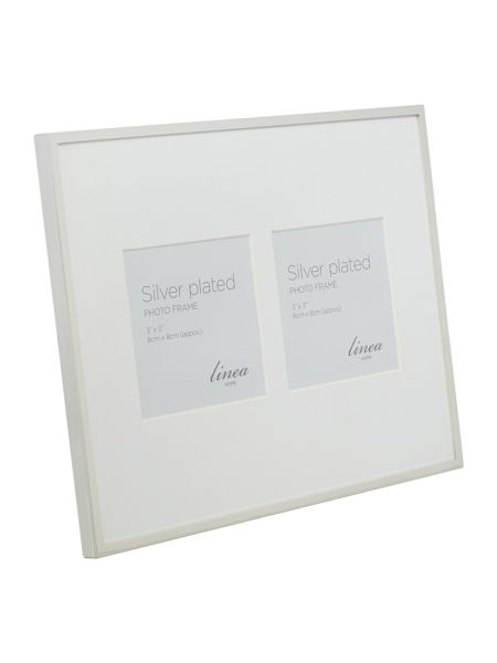 Linea Fine metal silver plated 2 aperture frame
