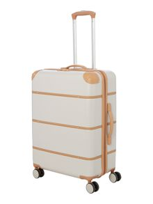 Dickins & Jones Vintage cream 8 wheel medium suitcase