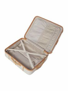 Trunk soft cream 4 wheel medium suitcase