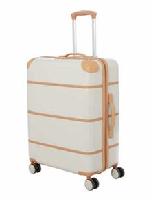 Dickins & Jones Vintage cream 8 wheel hard large suitcase