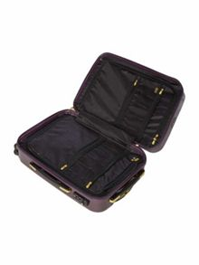 Logo emboss purple 8 wheel cabin case