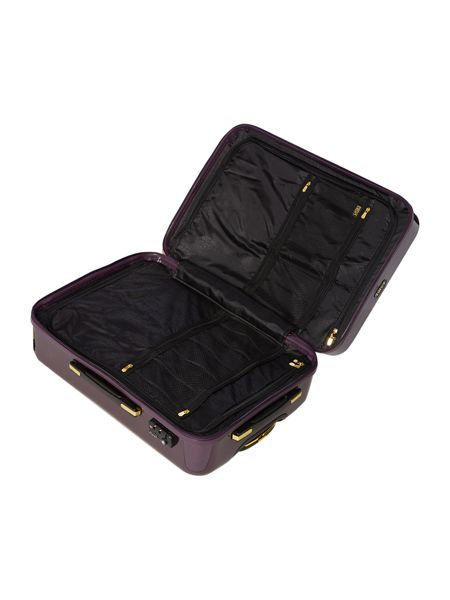 Biba Logo emboss purple 8 wheel medium suitcase