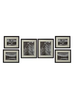 Gallery 6 piece frame set black