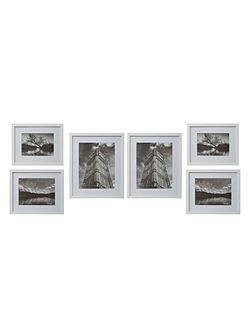 Gallery 6 piece frame set white
