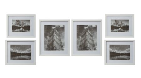 Linea Gallery 6 piece frame set white