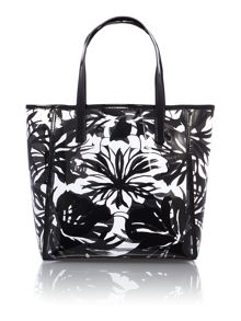 Eliza black floral tote bag