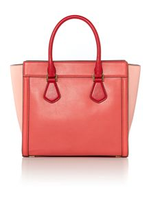 Collette pink winged tote bag