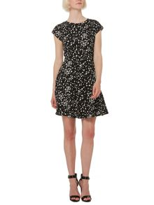 Therapy Speckle peplum dress