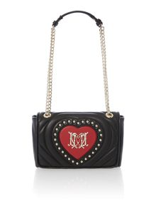 Quilted black chain shoulder bag