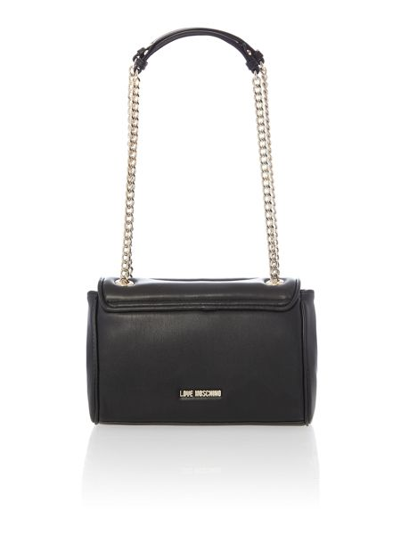 Love Moschino Quilted black chain shoulder bag
