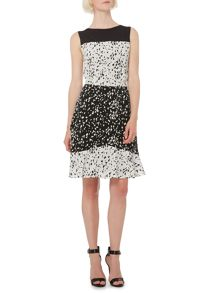 Therapy Speckle print positive negative dress