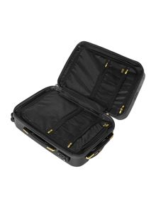 Biba Logo emboss black 8 wheel cabin suitcase