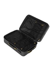 Biba Logo emboss black 8 wheel medium suitcase