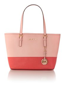 Jetset travel pale pink small tote bag