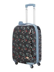 Boat print blue 4 wheel cabin suitcase