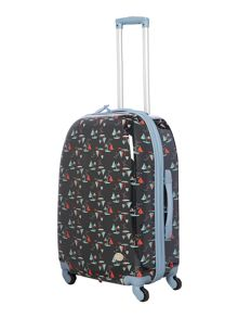 Dickins & Jones Boat print blue 4 wheel medium case