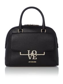 Frame saffiano black dome bag