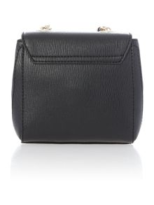 Frame saffiano black small crossbody bag
