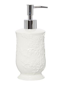 Embossed Ceramic Soap Dispenser