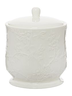 Embossed Ceramic Canister