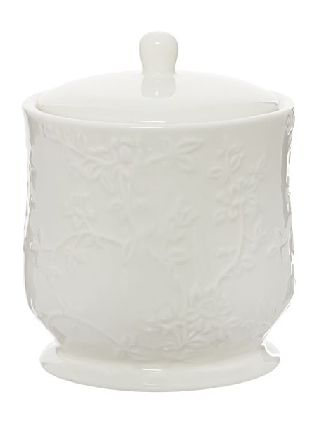Shabby Chic Embossed Ceramic Canister