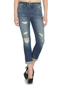J Brand Georgia slim fit ripped boyfriend jean in blitz